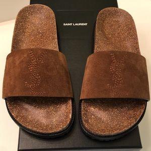 Yves Saint Lauren YSL Joan Suede Slides Size 6